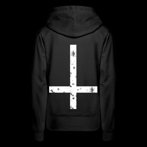 inverted cross white png - Women's Premium Hoodie