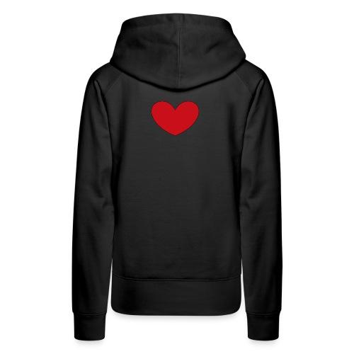 hjerte png - Dame Premium hættetrøje