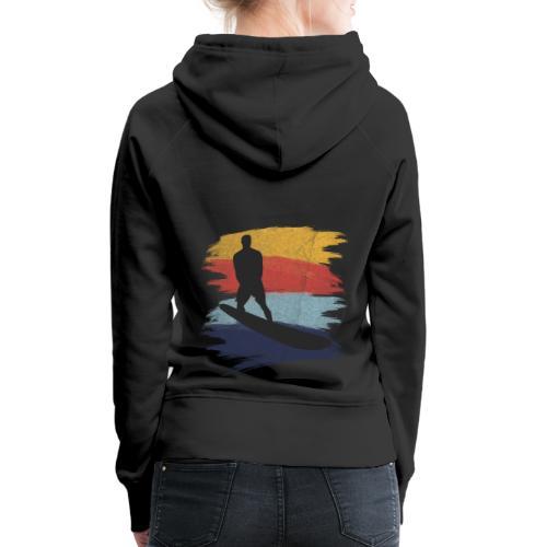 Wellenreiten Retro-Stil, Vintage - Frauen Premium Hoodie