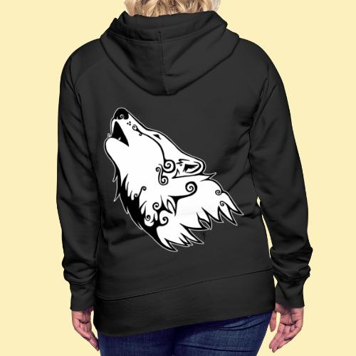 Le Loup de Neved (version contour blanc) - Sweat-shirt à capuche Premium pour femmes