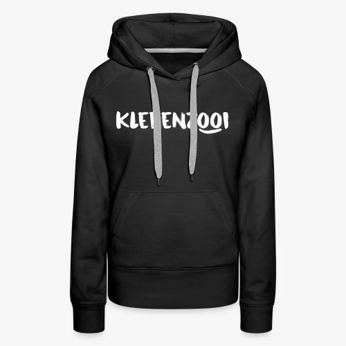 Zwarte vrouwencollectie met wit Klerenzooi logo - Vrouwen Premium hoodie