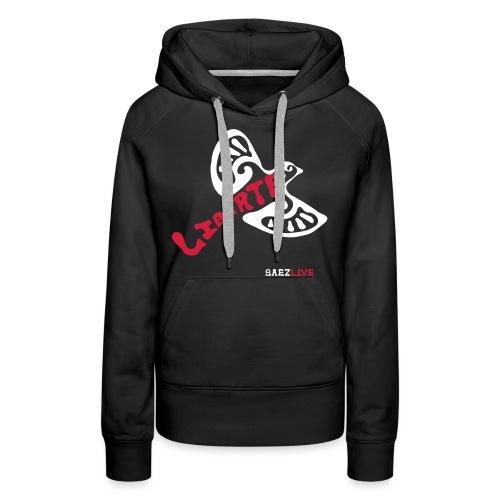 L'oiseau liberté (version light, par éoline) - Sweat-shirt à capuche Premium pour femmes