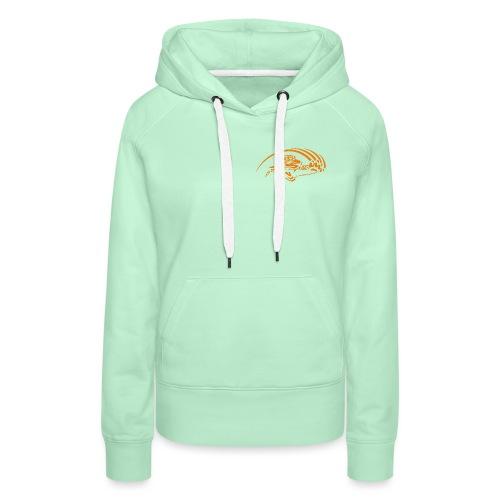 logo orange nu - Sweat-shirt à capuche Premium pour femmes