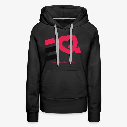 EQ schuin logo zwart - Vrouwen Premium hoodie