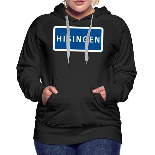 Vägskylt Hisingen - Premiumluvtröja dam