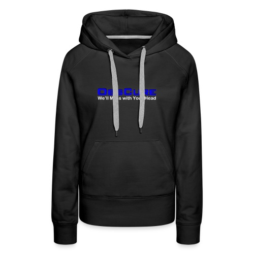 14038 2CWe Mess with Your Head white - Women's Premium Hoodie