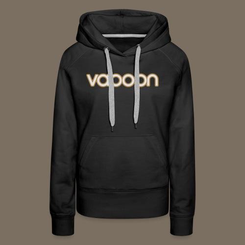 Vapoon Logo simpel 2 Farb - Frauen Premium Hoodie