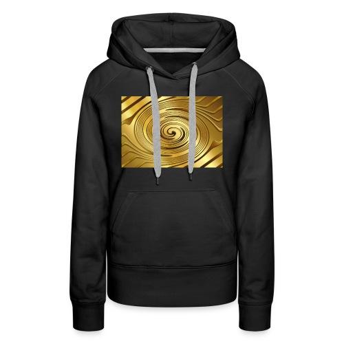spirale d'oro - Felpa con cappuccio premium da donna