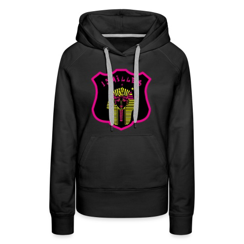 Pharaon Noir, Rose, Jaune hyper design - Sweat-shirt à capuche Premium pour femmes