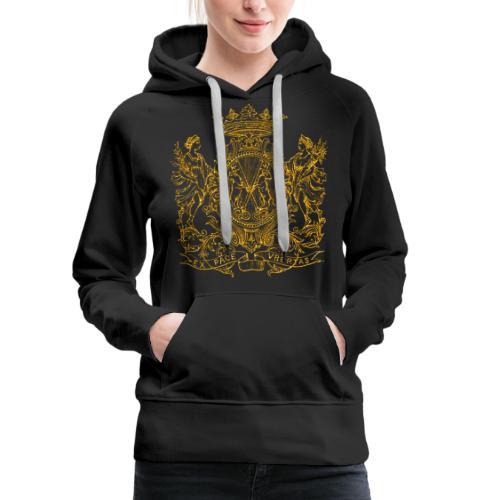Peace and prosperity coat of arms - Sudadera con capucha premium para mujer
