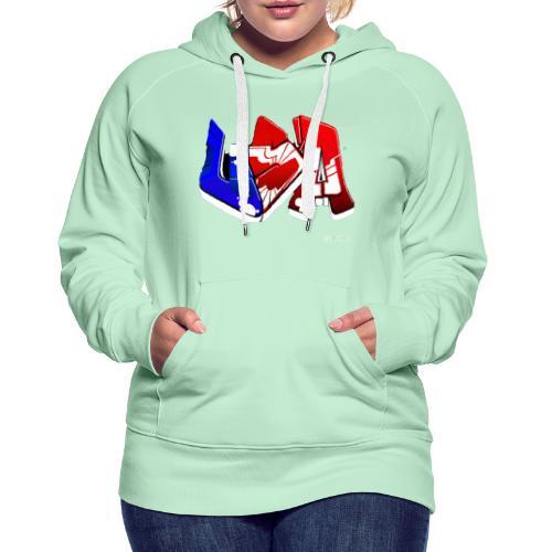 USA - Sweat-shirt à capuche Premium pour femmes