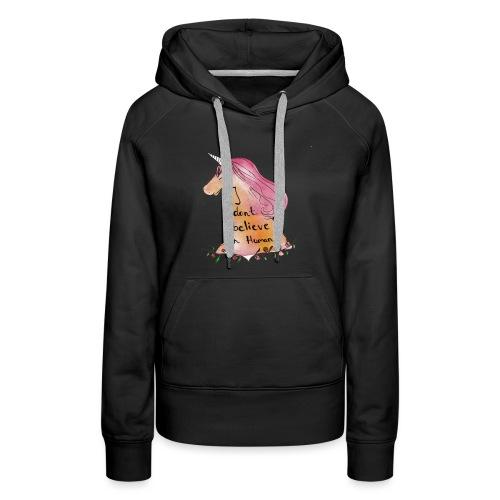 Funny unicorn design - Women's Premium Hoodie