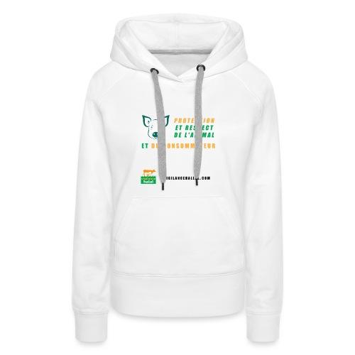 protection-cochon - Sweat-shirt à capuche Premium pour femmes