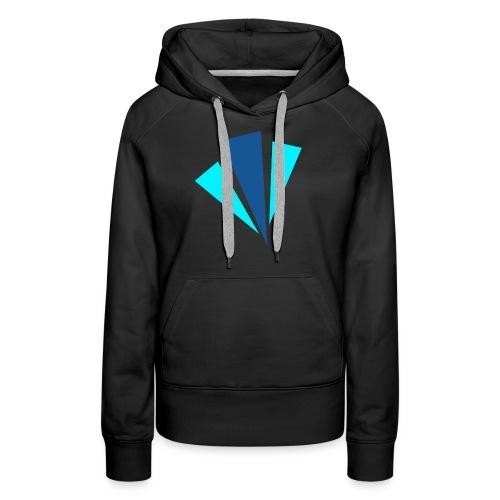 Blauwe Objecten T-shirt - Vrouwen Premium hoodie
