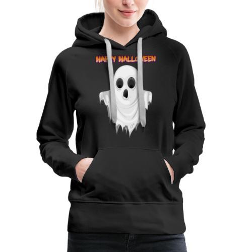 HAPPY HALLOWEEN GHOST DESIGN - Women's Premium Hoodie