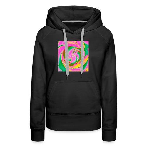 Psychedelic Rose - Women's Premium Hoodie