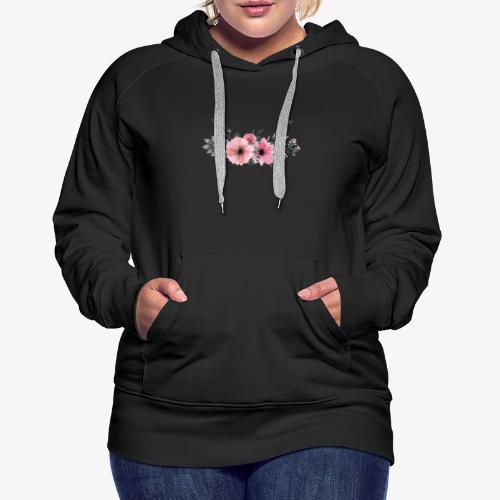 rosas - Sudadera con capucha premium para mujer