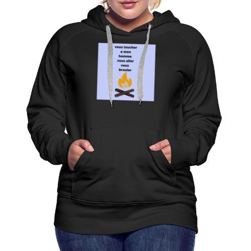 c pour les homme qui sont pris - Sweat-shirt à capuche Premium pour femmes