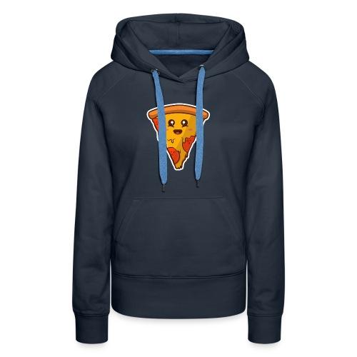 pizaa funny - Sudadera con capucha premium para mujer