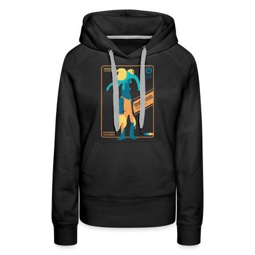 Alien Card [BLARG] - Vrouwen Premium hoodie