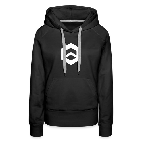 Plain black w/ logo - Women's Premium Hoodie