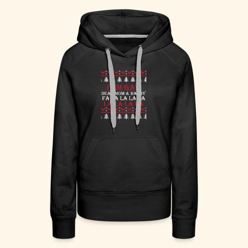 Gay Christmas sweater - Bluza damska Premium z kapturem