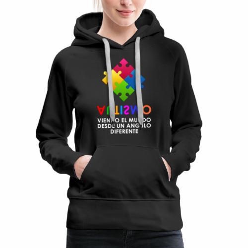El Autismo según Yo soy Asperger - Sudadera con capucha premium para mujer