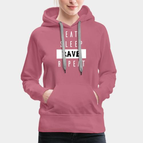 EAT SLEEP RAVE REPEAT - Frauen Premium Hoodie