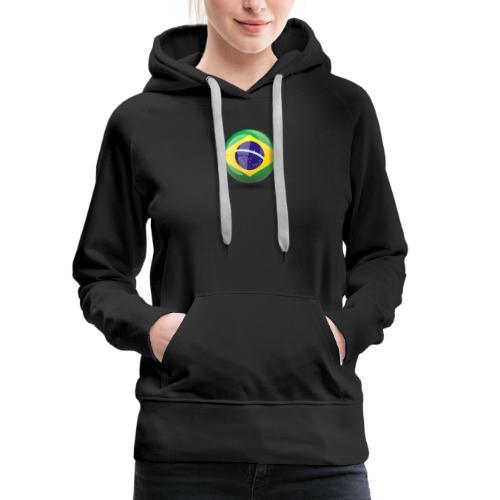 Símbolo da Bandeira do Brasil - Women's Premium Hoodie