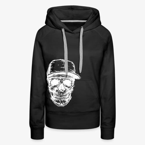 Crâne avec capuchon blanc | Designs Monkey - Mode - Sweat-shirt à capuche Premium pour femmes