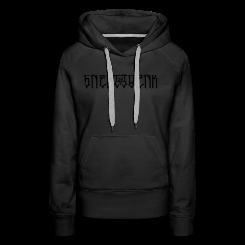 BLACK SNERTJOENK BLACK PENTAGRAM - Women's Premium Hoodie