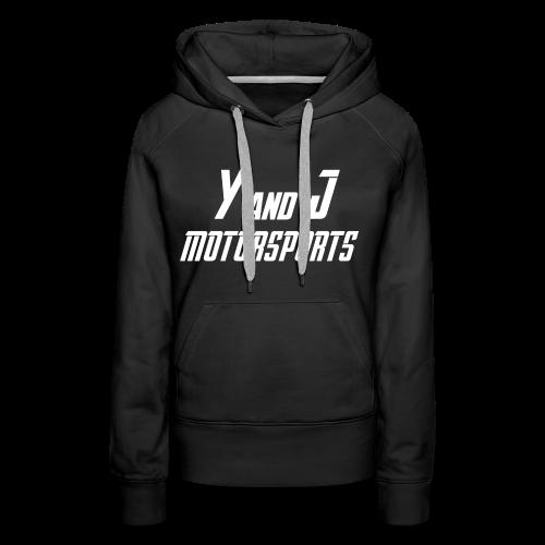 Y and J Motorsports Logo Weiß - Frauen Premium Hoodie