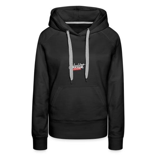 Blacklist Records - Casquette (Logo Blanc) - Sweat-shirt à capuche Premium pour femmes
