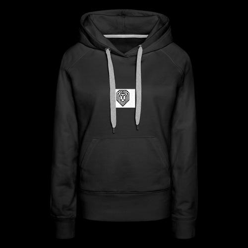 lion logo - Sweat-shirt à capuche Premium pour femmes