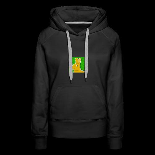 Konijn met groene achtergrond - Vrouwen Premium hoodie