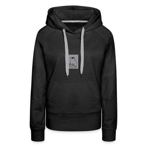 Chat-loup - Sweat-shirt à capuche Premium pour femmes