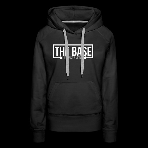 The Base Fitness and More Logo Zwart - Vrouwen Premium hoodie
