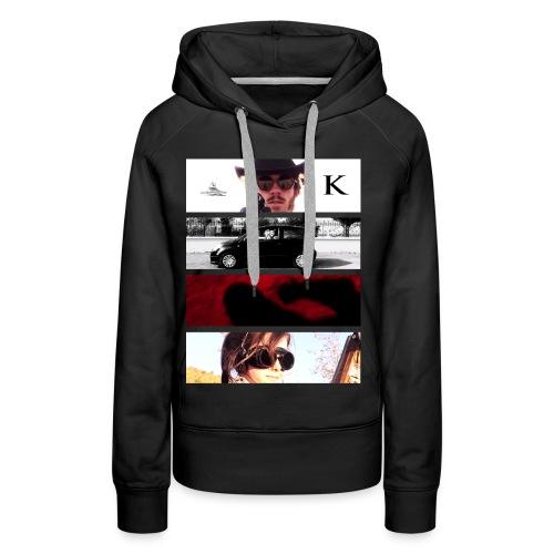 K - Sweat-shirt à capuche Premium pour femmes