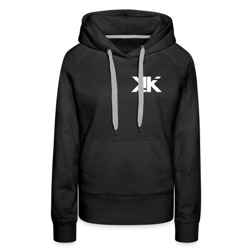 KennyK Logo Weiß - Frauen Premium Hoodie