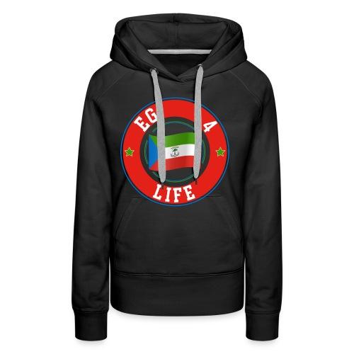 Diseño EG 4 LIFE - Sudadera con capucha premium para mujer