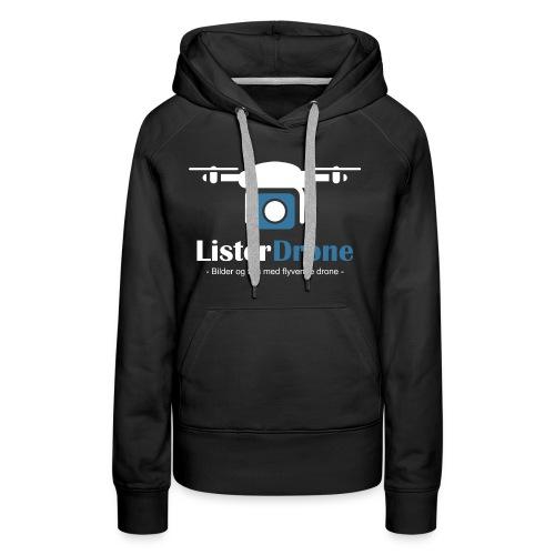 ListerDrone logo - Premium hettegenser for kvinner