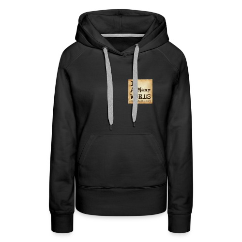 I AM Words LOGO_Brown - Women's Premium Hoodie