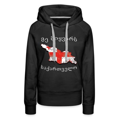 Ich liebe Georgien - Frauen Premium Hoodie