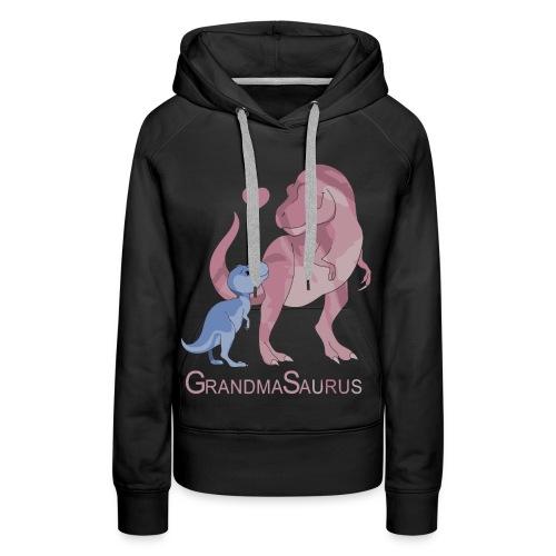 Grandmasaurus grandma dinosaur shirt - Women's Premium Hoodie