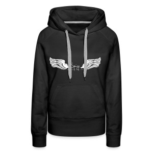 Seraph Wings white - Sweat-shirt à capuche Premium pour femmes