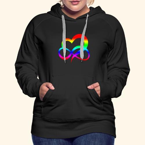 ZEICHEN LIEBE BEZIEHUNG LGBT REGENBOGEN GESCHENK - Frauen Premium Hoodie