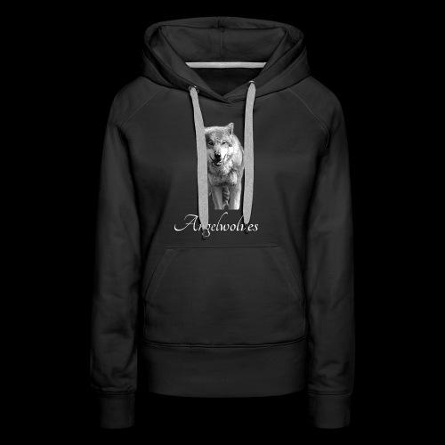 Wolfskopf Angelwolves - Frauen Premium Hoodie