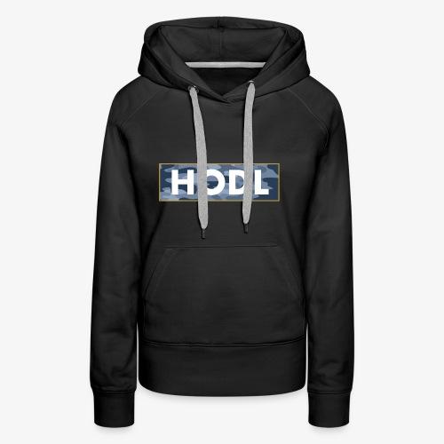 Camo Hodl Tee - Women's Premium Hoodie