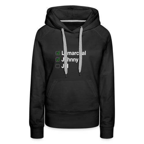 Check list Johnny Jul - Sweat-shirt à capuche Premium pour femmes