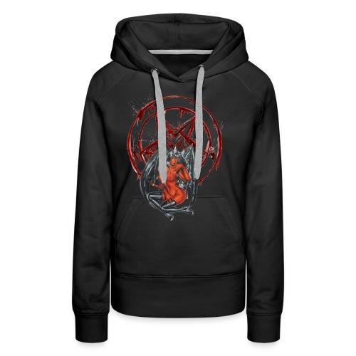 Blut Pentagramm mit Sexy Dämon - Frauen Premium Hoodie